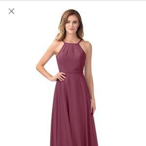 Azazie Melinda Mulberry Chiffon gown WITH POCKETS